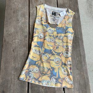 Wet Seal Distressed Destroyed MINIONS Minion Tank